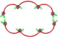 Scalloped Rose Border embroidery design