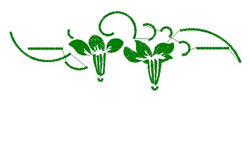 Lily Border embroidery design