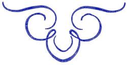 Single Color Flourish embroidery design