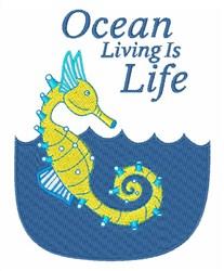 Ocean Living embroidery design