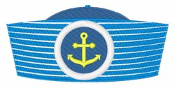 Anchor Sailor Hat embroidery design