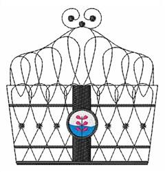 Wire Garden Basket embroidery design