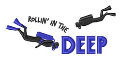 Rollin In The Deep embroidery design