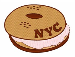 NYC Bagel & Cream Cheese embroidery design