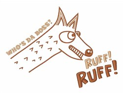Puppy Ruff embroidery design