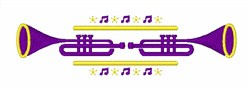 Two Trumpets embroidery design