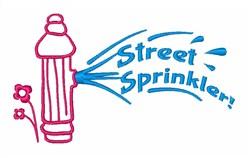 Street Sprinkler! embroidery design