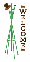Welcome Hat Stand embroidery design