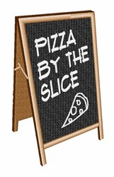 Pizza By The Slice embroidery design