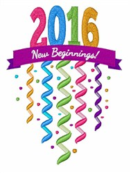 2016 New Beginninjgs! embroidery design