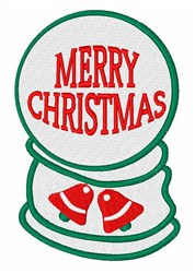 Merry Christmas Snowglobe embroidery design
