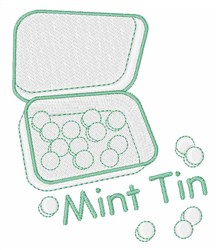 Mint Tin embroidery design