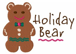 Holiday Bear embroidery design