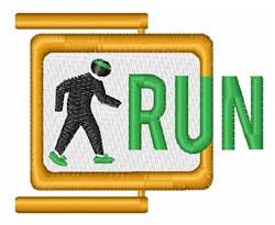 Run Sign embroidery design