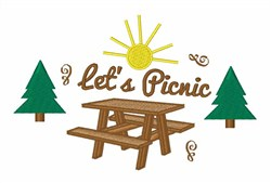 Lets Picnic embroidery design