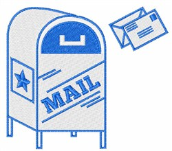 Postal Mail embroidery design