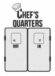 Chefs Quarters embroidery design