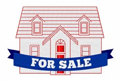 House For Sale embroidery design