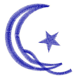 Star and Crescent embroidery design