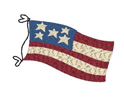 Americana Flag embroidery design