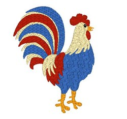 Americana Rooster embroidery design