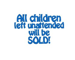 Children Sold embroidery design