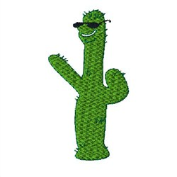 Cool Cactus embroidery design
