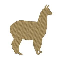 Alpaca Silhoette embroidery design