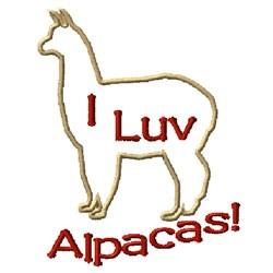 I Luv Alpacas! embroidery design