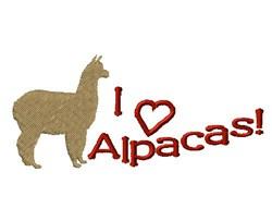 Love Alpacas! embroidery design