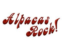 Alpacas Rock! embroidery design