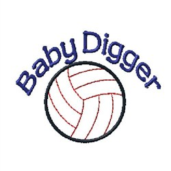 Baby Digger embroidery design
