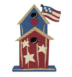 Americana Birdhouse embroidery design