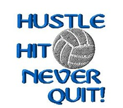 Never Quit Volleyball embroidery design