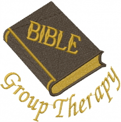 Bible Therapy embroidery design