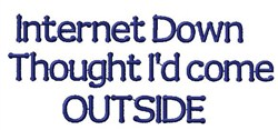 Internet Down embroidery design