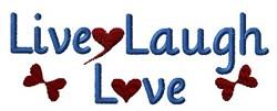 Live, Laugh, Love embroidery design