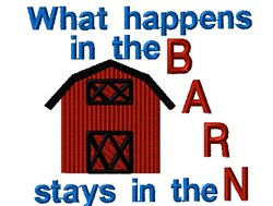 In The Barn embroidery design