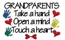 Grandparents embroidery design