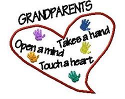 Grandparents Heart embroidery design