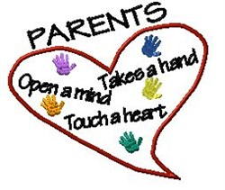 Parents Heart embroidery design
