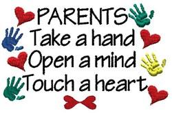 Parents embroidery design