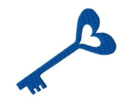 Heart Key embroidery design
