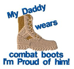 Proud Of Daddy embroidery design
