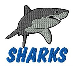 Sharks Mascot embroidery design