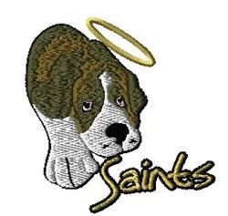 Saints Mascot embroidery design