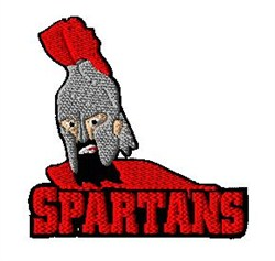 Spartans Mascot embroidery design