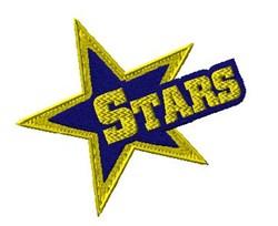 Stars Mascot embroidery design