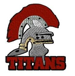 Titans Mascot embroidery design