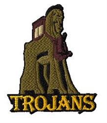 Trojans Mascot embroidery design